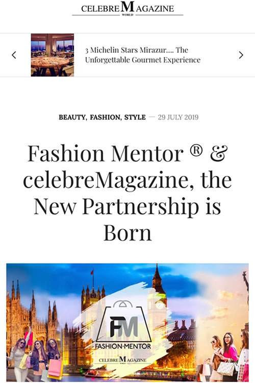 Partnership Fashion Mentor - Celebre Magazine - www.fashionmentor.net